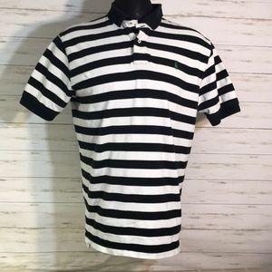 Polo Ralph Lauren Black White Striped Shirt Large
